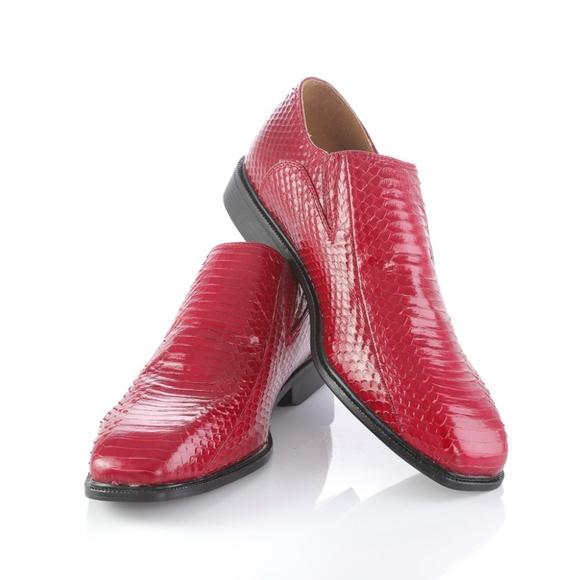 Giorgio Brutini Shoes | Snake Skin Red
